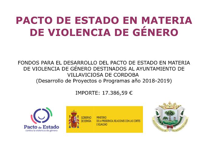 FONDOS PARA DE DESARROLLO DEL PACTO DE ESTADO EN MATERIA DE VIOLENCIA DE GENERO 1