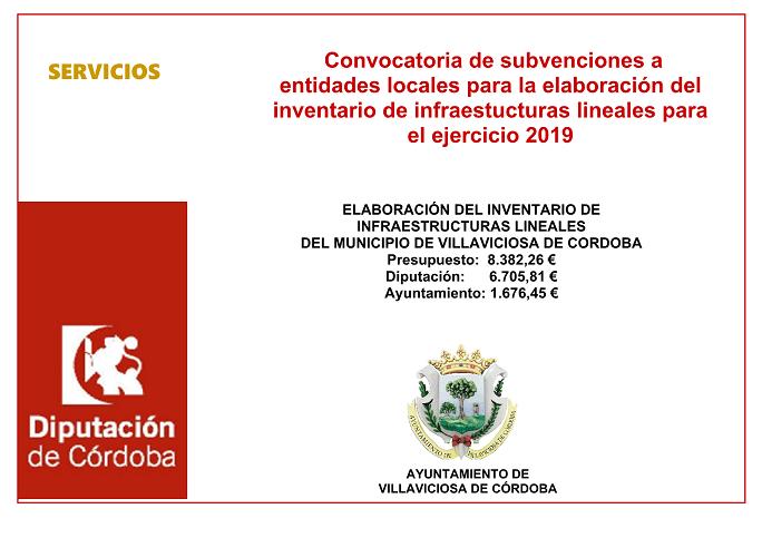 SUBVENCION ELABORACION DEL INVENTARIO DE INFRAESTRUCTURAS LINEALES EJERCICIO 2019 1