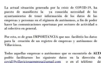 Registro de Empresas y Autónomos de Villaviciosa de Córdoba