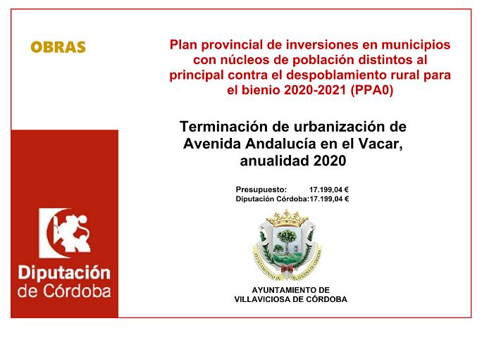 Plan provincial de inversiones en municipios con núcleos de población distintos al principal contra el despoblamiento rural para el bienio 2020-2021 (PPA0) 1