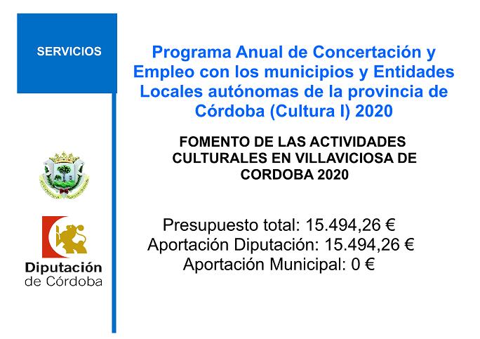 PROGRAMA ANUAL DE CONCERTACION Y EMPLEO 2020. CULTURA (I) 1