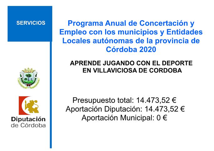 PROGRAMA ANUAL DE CONCERTACION Y EMPLEO 2020.DEPORTE 1