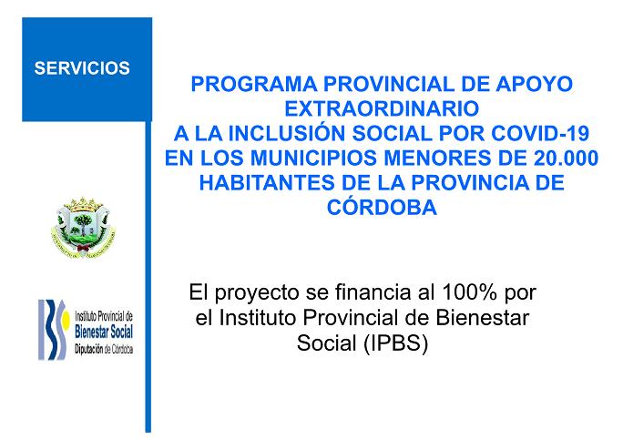PROGRAMA DE APOYO EXTRAORDINARIO A LA INCLUSIÓN SOCIAL