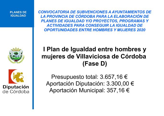 CONVOCATORIA DE AYUDAS PARA LA REALIZACION DE PLANES DE IGUALDAD 2020