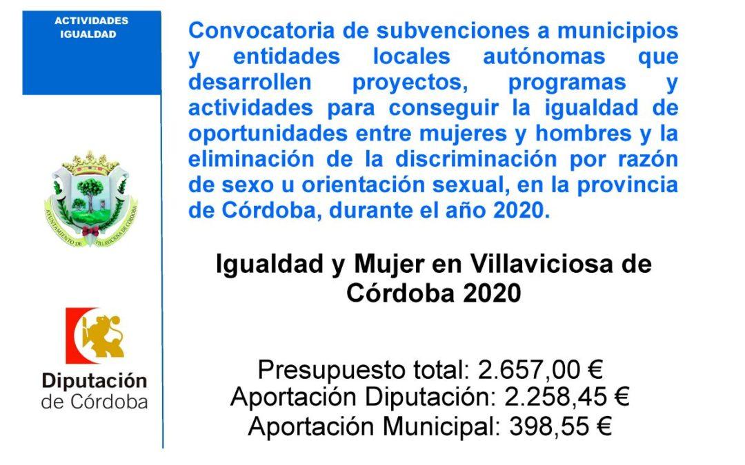 Igualdad y Mujer en Villaviciosa de Córdoba 2020