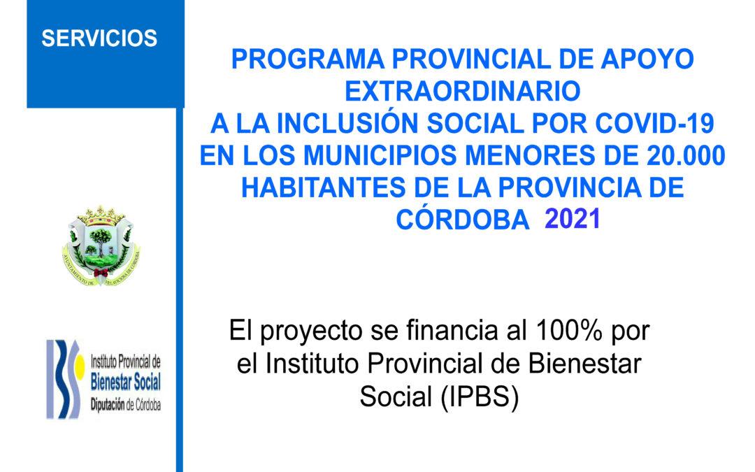 Programa de inclusión social COVID-19 para el 2021