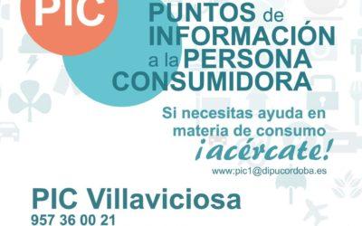 Calendario 2021-22 del Punto de Información al Consumidor en Villaviciosa de Córdoba